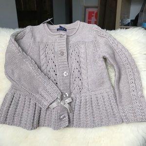 GAP Kids Girls Tan Sweater NWT, 12-18m